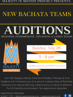 NEW Bachata Team Auditions with Majesty in Motion!