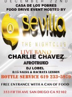Sevilla Night Club Holiday Party and Food Drive