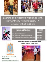 Bachata and Kizomba Workshop with Troy Anthony from Houston, TX