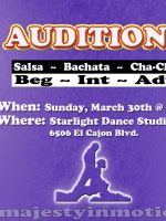 Majesty Team Auditions