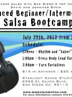 Intermediate Salsa Bootcamp - July 29th, 2012