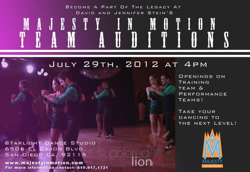 Majesty in Motion Team Auditions - July 29, 2012